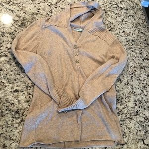 Cozy Beige Pull Over Sweater Hoodie Size XL